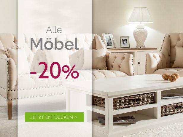 Möbel-Aktion: Ermäßigung 20% bis 14.09.