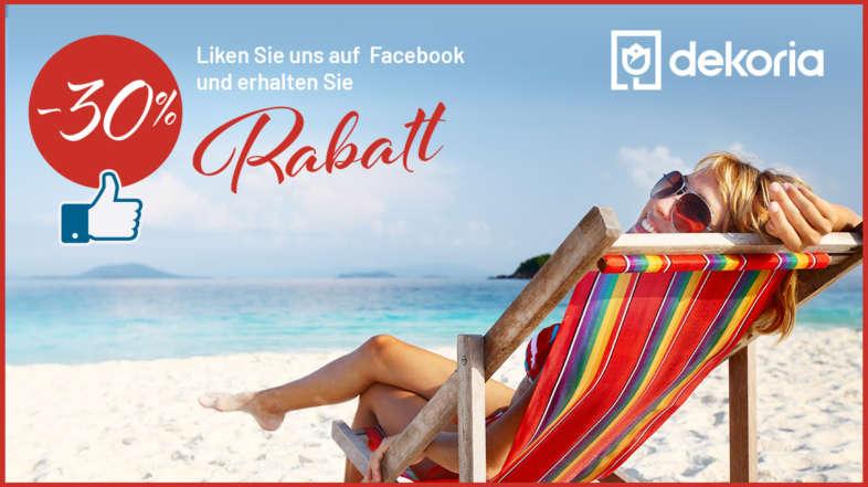 Liken Sie uns auf Facebook und wählen 1 Produkt 30% billiger